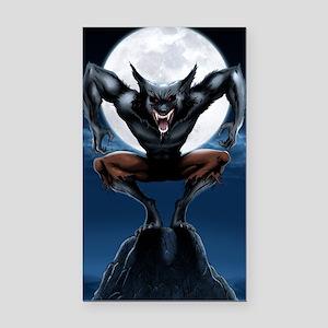 Werewolf Rectangle Car Magnet