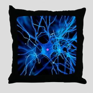 Nerve cell, artwork Throw Pillow