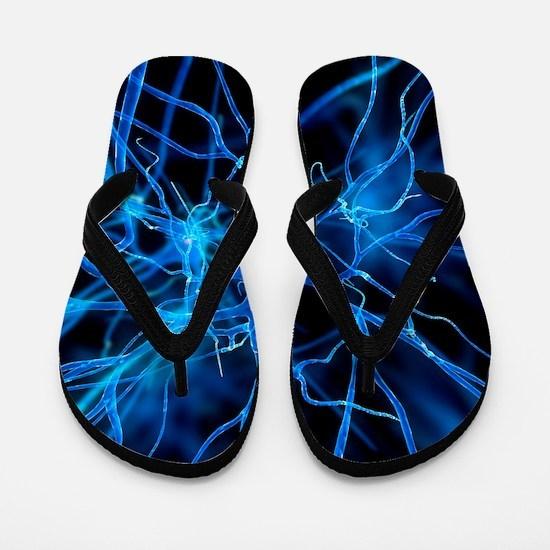 Nerve cell, artwork Flip Flops