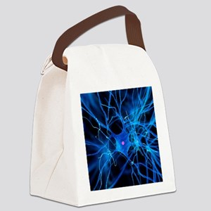 Nerve cell, artwork Canvas Lunch Bag