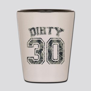 Dirty 30 Grunge 2 Shot Glass