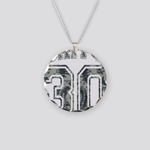 Dirty 30 Grunge 2 Necklace Circle Charm