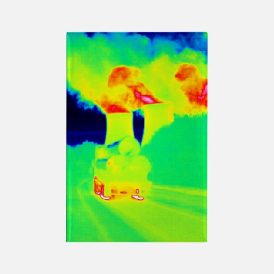 Cooling towers, thermogram Rectangle Magnet