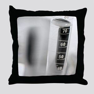 Laboratory glassware Throw Pillow