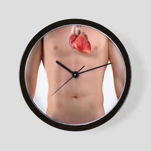 Healthy heart, artwork Wall Clock