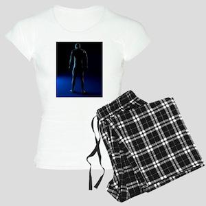 Male anatomy, artwork Women's Light Pajamas