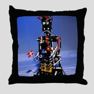 Lego humanoid robot known as Elektra Throw Pillow