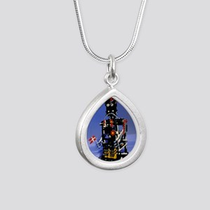 Lego humanoid robot know Silver Teardrop Necklace