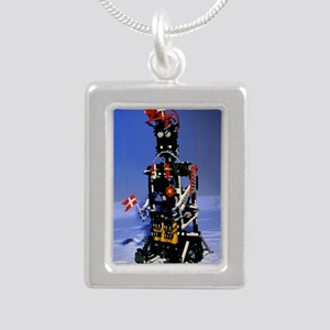 Lego humanoid robot know Silver Portrait Necklace