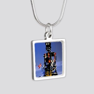Lego humanoid robot known  Silver Square Necklace