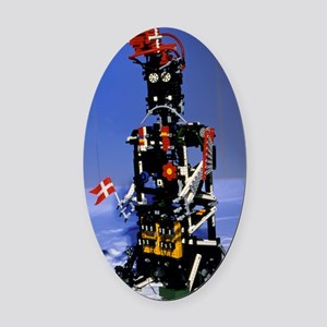 Lego humanoid robot known as Elekt Oval Car Magnet