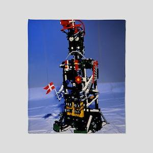 Lego humanoid robot known as Elektra Throw Blanket