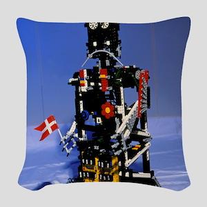 Lego humanoid robot known as E Woven Throw Pillow