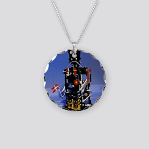 Lego humanoid robot known as Necklace Circle Charm