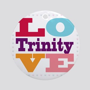 I Love Trinity Round Ornament