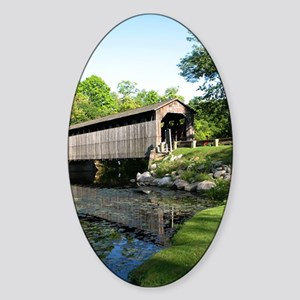 Fallasburg Covered Bridge Sticker (Oval)