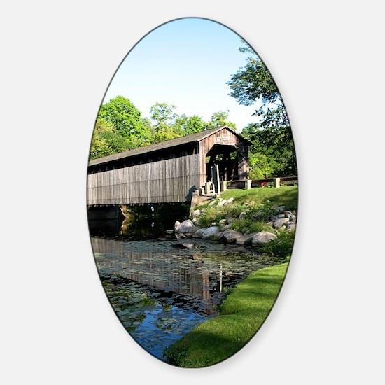 Fallasburg Covered Bridge Sticker (Oval)