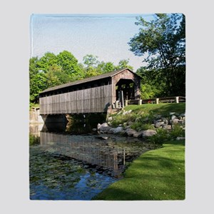Fallasburg Covered Bridge Throw Blanket