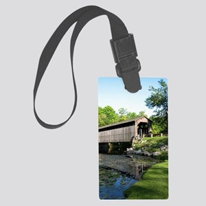 Fallasburg Covered Bridge Large Luggage Tag