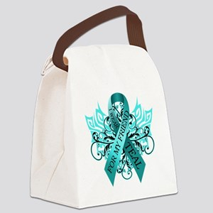 I Wear Teal for my Friend Canvas Lunch Bag