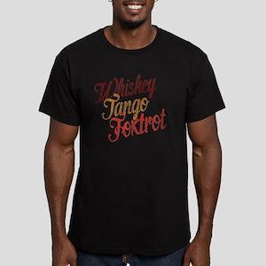 Whiskey Tango Foxtrot  Men's Fitted T-Shirt (dark)