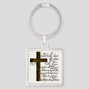 Plan of God Jeremiah 29:11 Square Keychain