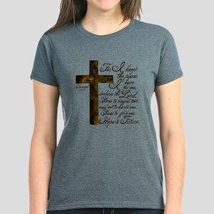 Plan of God Jeremiah 29:11 Women's Dark T-Shirt