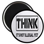 Think: It's Not Illegal Magnet