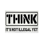 Think: It's Not Illegal Rectangle Magnet (10 pack)