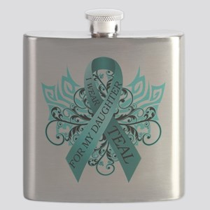 I Wear Teal for my Daughter Flask