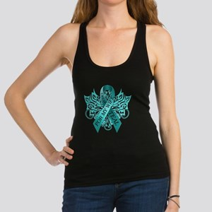 I Wear Teal for my Wife Racerback Tank Top