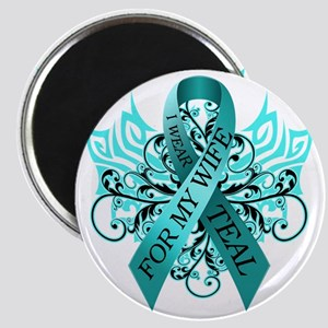 I Wear Teal for my Wife Magnet