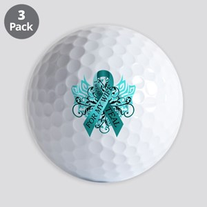 I Wear Teal for my Wife Golf Balls