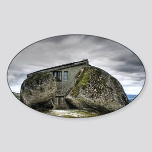 Rock house Sticker (Oval)