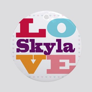I Love Skyla Round Ornament