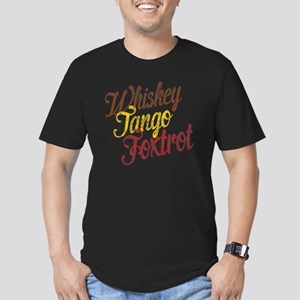 Whiskey Tango Foxtrot  Men's Fitted T-Shirt (dark)
