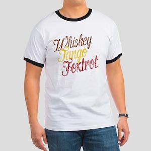 Whiskey Tango Foxtrot Vintage Ringer T