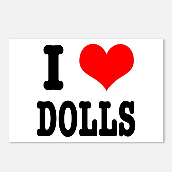 I Heart (Love) Dolls Postcards (Package of 8)
