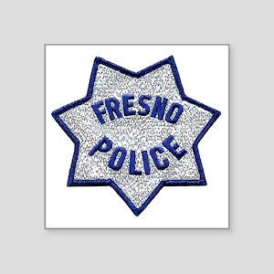 "Fresno Police patch Square Sticker 3"" x 3"""
