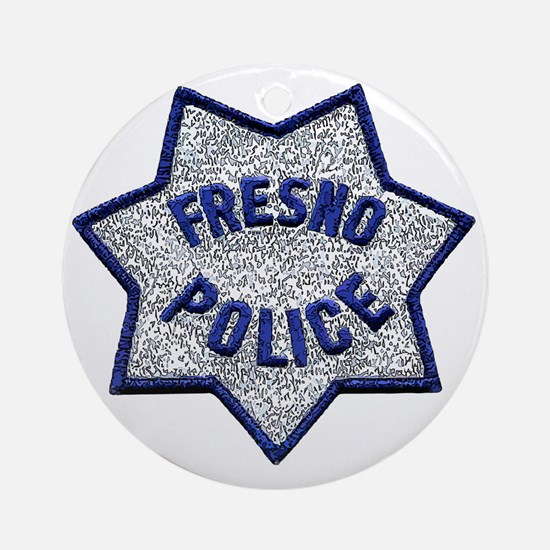 Fresno Police patch Round Ornament