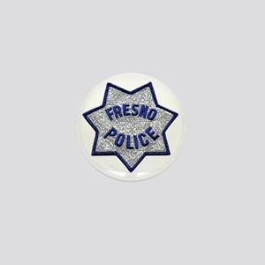 Fresno Police patch Mini Button