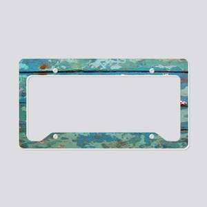Starfish and Turquoise License Plate Holder