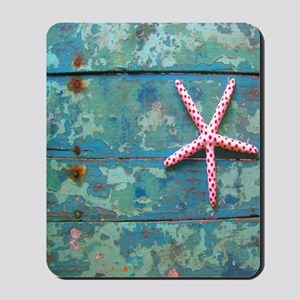 Starfish and Turquoise Mousepad