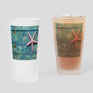 Starfish and Turquoise Drinking Glass