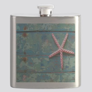 Starfish and Turquoise Flask