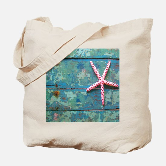 Starfish and Turquoise Tote Bag