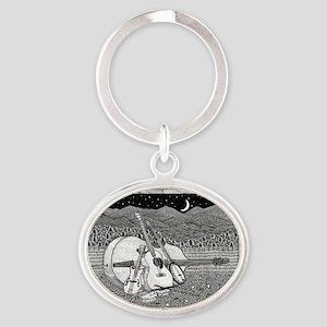 Bluegrass-1 Oval Keychain