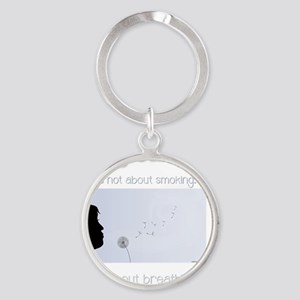 About Breathing Round Keychain