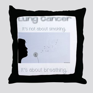 About Breathing Throw Pillow