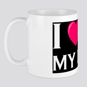 I love my DAD pink dark Mug